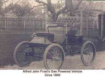 Alfred John Frost's Gas Powered Vehicle Circa 1900