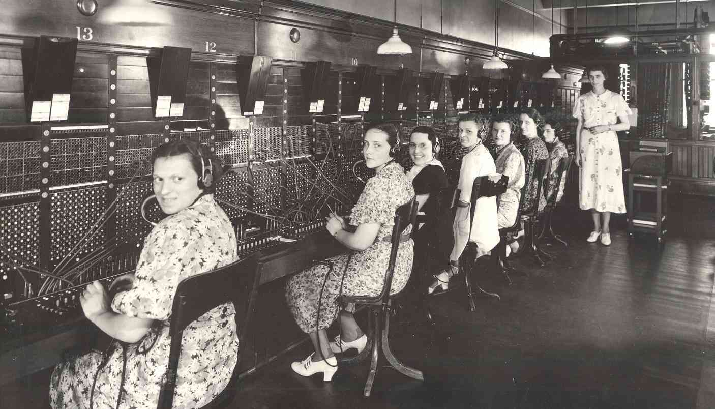 Women at switchboard