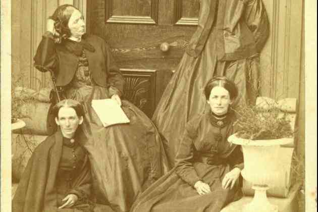 Mrs. R.J. Doyle (Mary Stevens) and her sisters c. 1890s  Front (l-r) Rachel (Mrs. John Layton), Mary   Back (l-r) Ellen (Mrs. David Layton), Eliza (Mrs. George S. Miller)