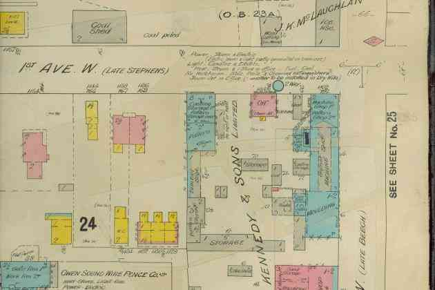 Owen Sound Fire Insurance Map for Web