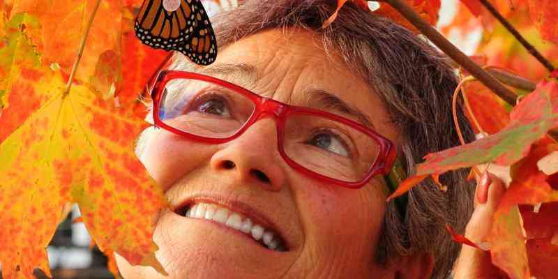 Audrey Armstrong  with a tagged fall Monarch