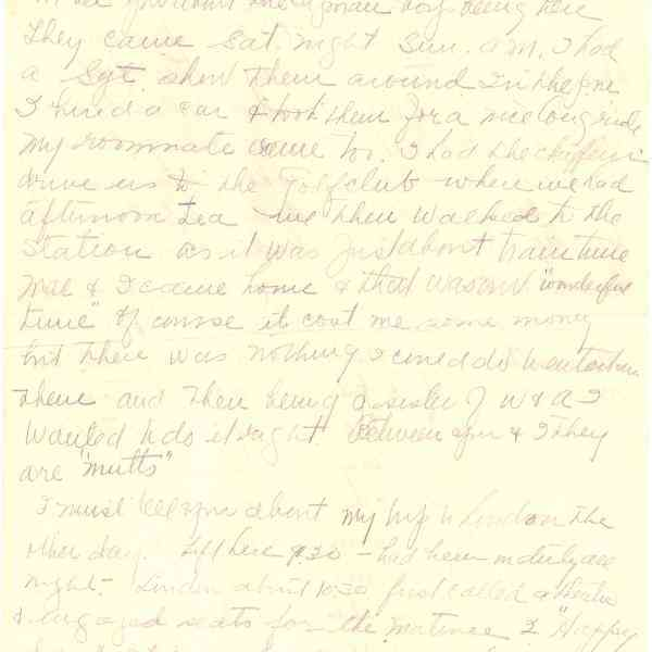 Original Letter from Miss Euphemia Denton to Mrs. Helen Denton (Page 2)