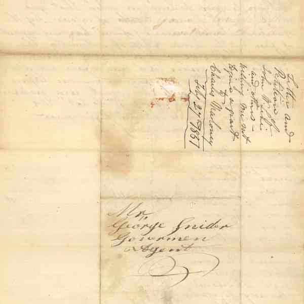 Letter and Petition of John W. Levi and others. Back