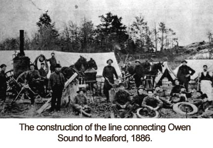 The Construction of the line connecting Owen Sound to Meaford 1886